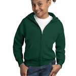 VALUE Youth Comfortblend ® EcoSmart ® Full Zip Hooded Sweatshirt