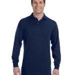 5.6 oz., 50/50 Long-Sleeve Jersey Polo with SpotShield™