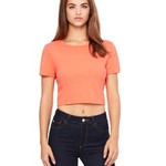 Ladies' Poly-Cotton Crop T-Shirt